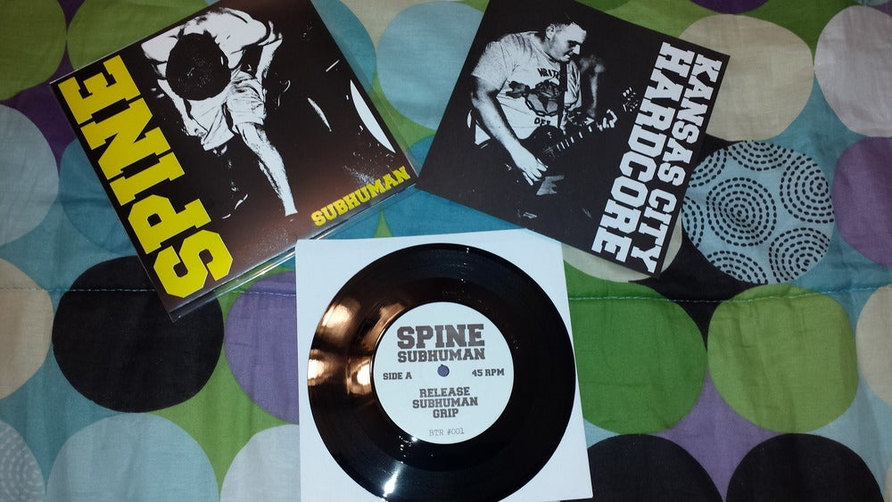 Image of SPINE Subhuman 7 inch 2nd Press