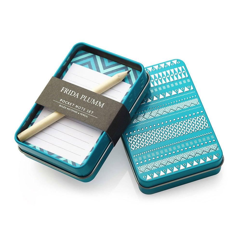 Image of Pocket Note Set (Petrol Blue)