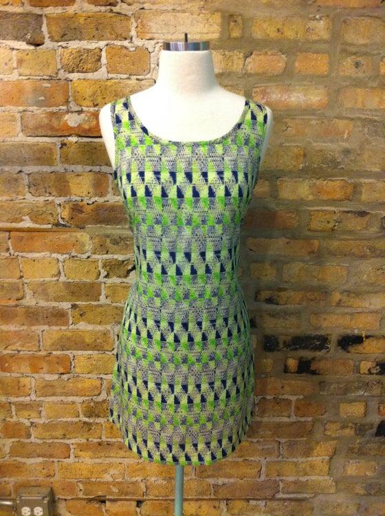Image of Green Print Shift Dress