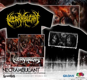 Image of NECRAMBULANT - Infernal Infectious...TS yellow logo PACKAGE
