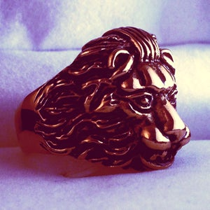 Image of LION RING    GOLD