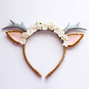 Image of Natural Floral Deer Headband