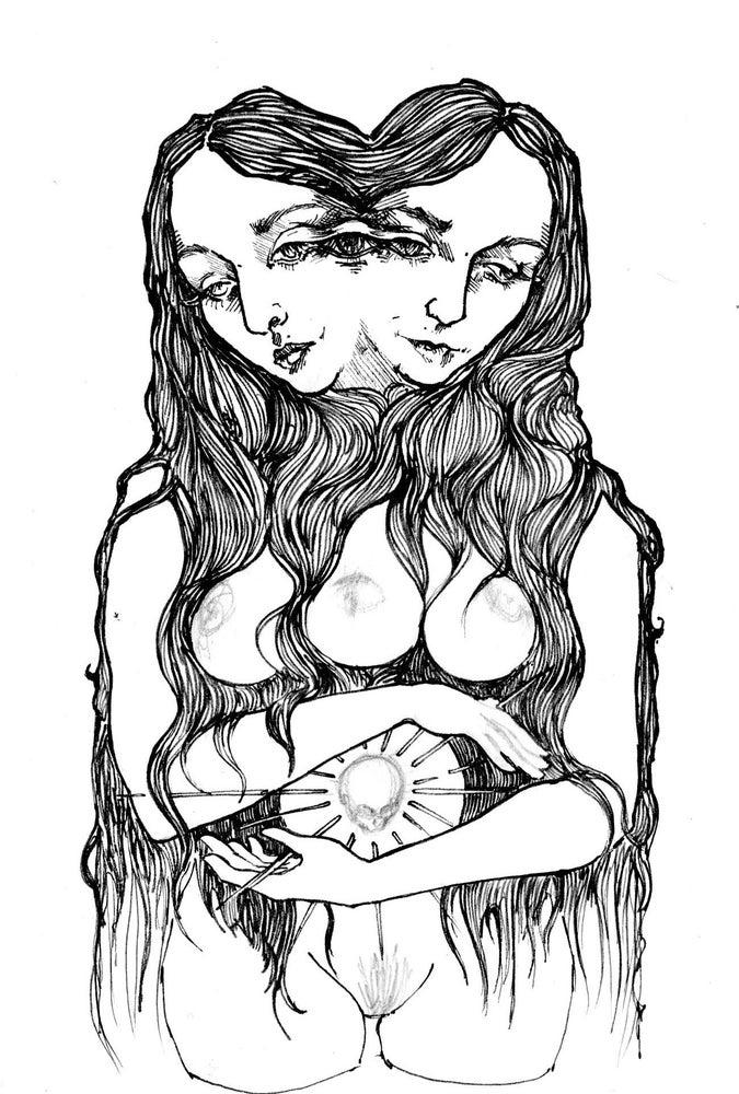Image of 'Janusian Process' Print on Silk