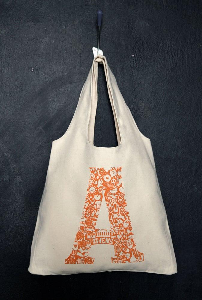 "Image of ""Athens Monogram"" tote bag"