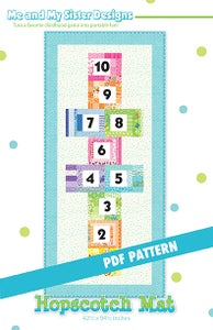 Image of Hopscotch Mat PDF pattern