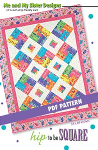 Image of Hip to be Square PDF pattern