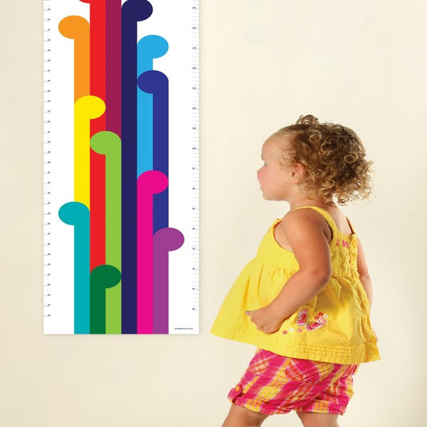Image of Height Chart - Koru Rainbow