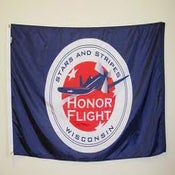 Image of 4' by 6' - Stars and Stripes Honor Flight Flags