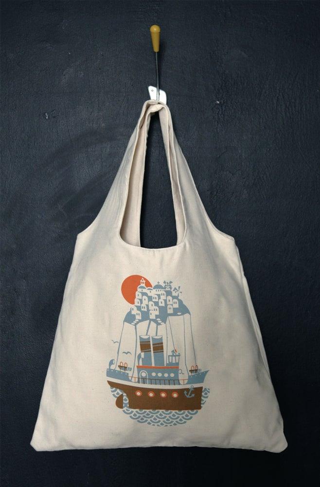 "Image of ""Santorini Arrival"" tote bag"