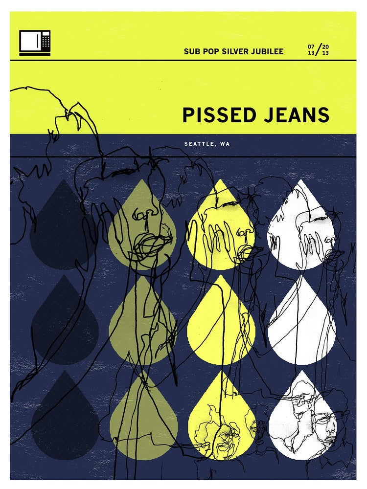 Image of Pissed Jeans Sub Pop Silver Jubilee July '13