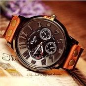 Image of Handmade Watch / Vintage Watch / Wrist Watch / Leather Watch / Mens Quartz Watch (WAT0029)