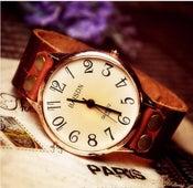 Image of Handmade Watch / Vintage Watch / Wrist Watch / Leather Watch / Quartz Watch (WAT0017)