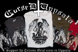 Image of Cursed Uppsala T-shirt Angel design.