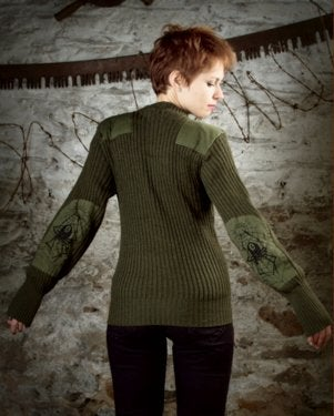 Image of SH47 [Black Widow] UP-Cycled Military Surplus Commando Sweater