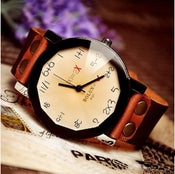 Image of Handmade Vintage Quartz Wrist Watch / Womens Or Girls Fashion Watch (WAT0005-Champaign)
