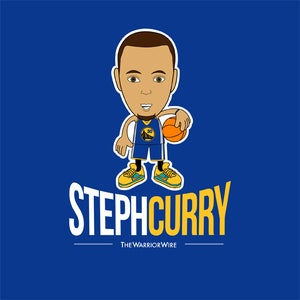 "Image of ""Steph Curry"" Tee - Color: BLUE"