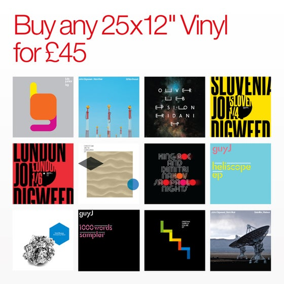"Image of Bedrock Summer Sale Any 25 x 12"" Vinyl for £45"