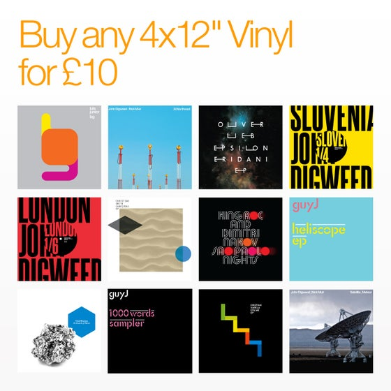 "Image of Bedrock Summer Sale Any 4 x 12"" Vinyl for £10"