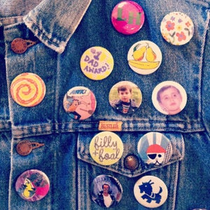 "Image of 1.5"" Custom Made ""Madge Badge"" Buttons"
