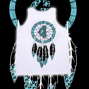 Image of Dream Catcher White Tank Top