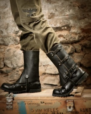 Image of SH70 [JACK SPATS] Up-Cycled Vintage Military Leather Spats