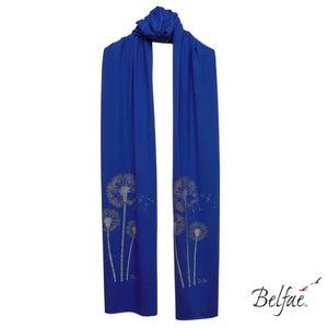 Image of Biro bamboo jersey scarf 'silver dandelions'