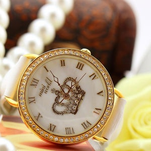 Image of Rhinestone Crown Polymer Clay Watch