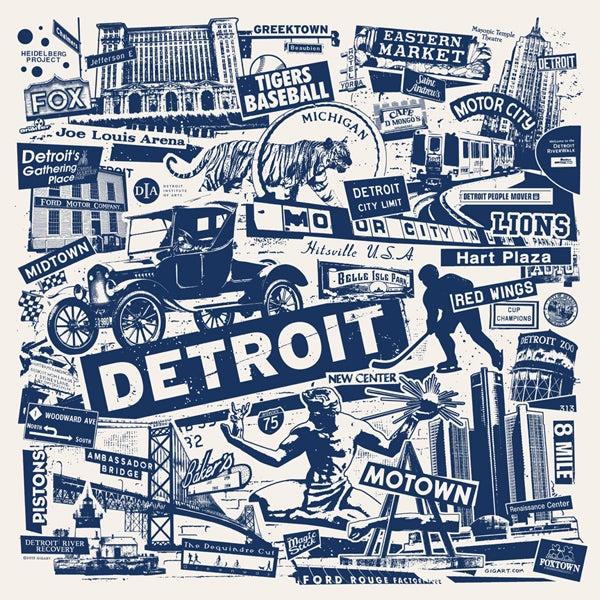 Image of Detroit City Print