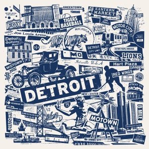 Image of Detroit City Print