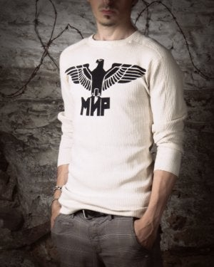 Image of MIR749 [EAGLE DIVISION] Vintage Military Surplus Thermal Long Sleeve Shirt