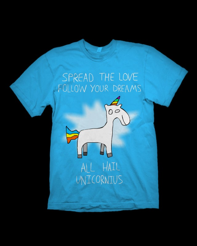 Image of Spread The Love / Follow Your Dreams - Unicornius T-Shirt