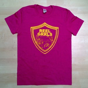 Image of Reel Grrls T Shirt, Raspberry