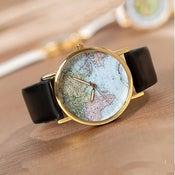 Image of World Map Wrist Watch / Mens Unisex Watch / Womens Watch (WAT0079)