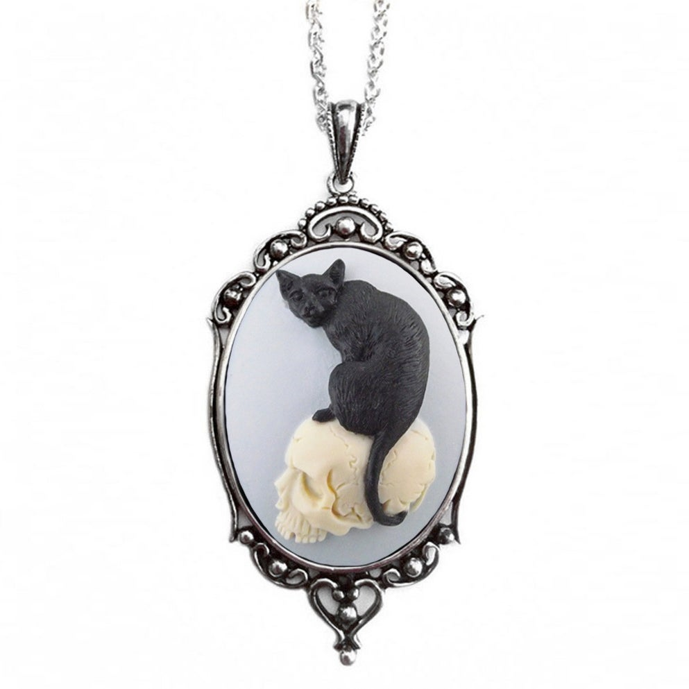 Image of Cat Skull Necklace