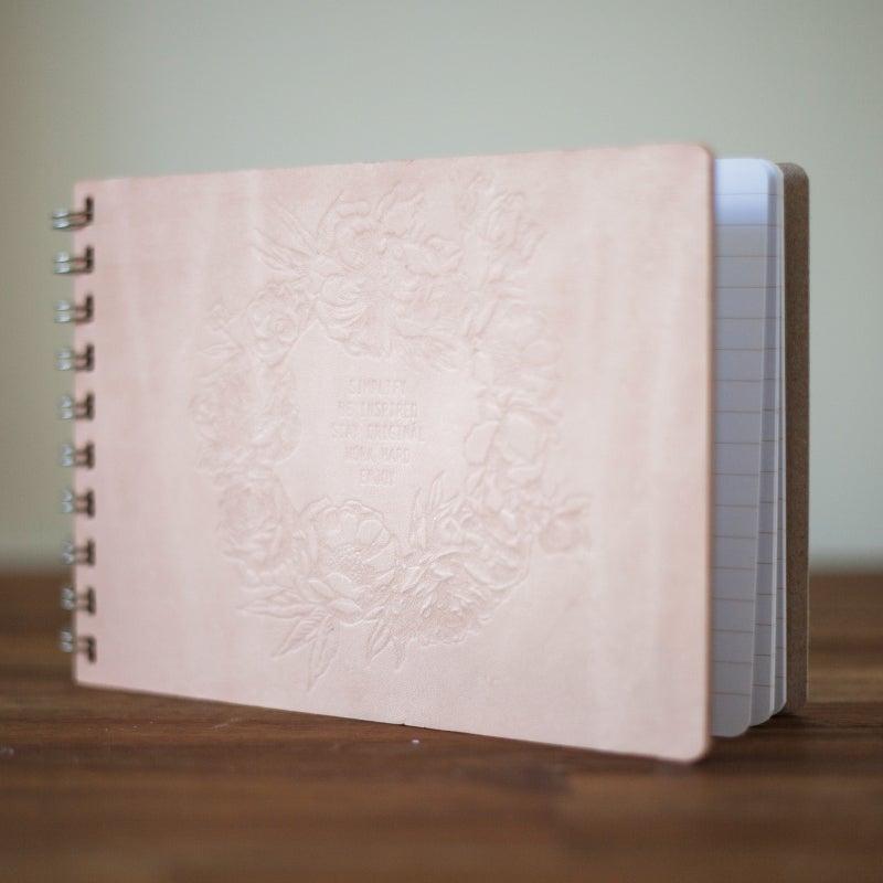 Image of A5 Landscape Notebook {Natural Rose}
