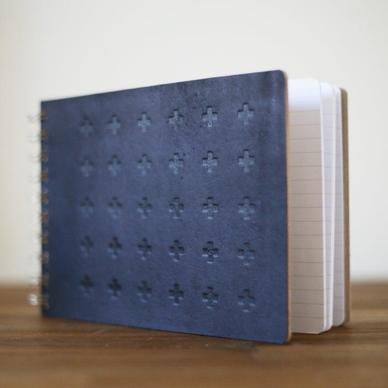 Image of A5 Landscape Notebook {Black Beauty}