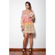 Image of Pepper - Short Kaftan Dress - Multi Colour