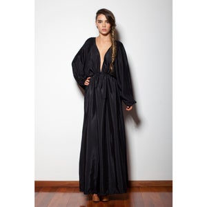 Image of Pepper - Maxi Kaftan Dress - Black
