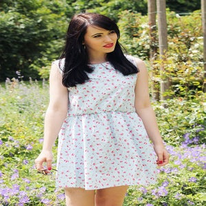 Image of Holly Ditsy Floral Skater Dress