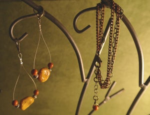 Image of The Marley Wire earrings and Three chain bracelet -sold separate $20.00 each -