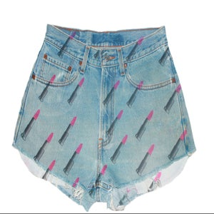Image of D.Fame Lipstick Denim Shorts