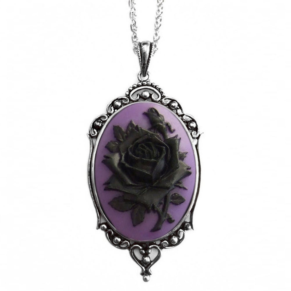 Image of Black Rose Purple Necklace