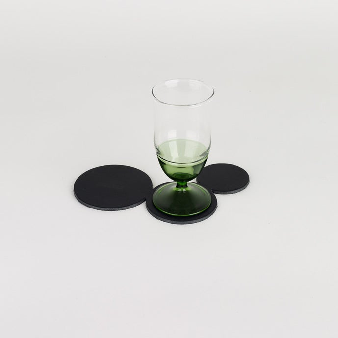 Image of In Vino Veritas Coaster 3 Glass Tan or Black