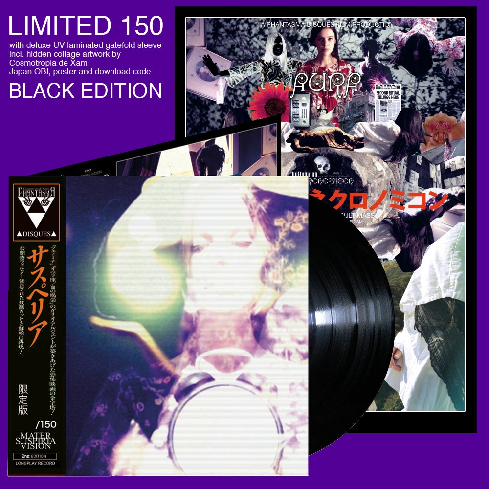 Image of MATER SUSPIRIA VISION - HOLLYWOOD NECRONOMICON (2nd Edition Deluxe, BLACK VINYL + POSTER)