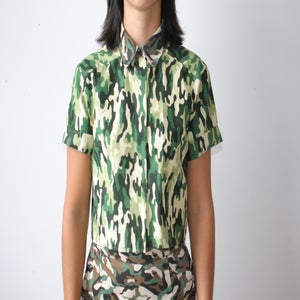 Image of Camo Cropped Shirt