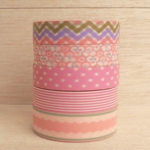 Image of Washi Tape Pinks (1 rolo à escolha)