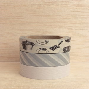 Image of Washi Tape Grays (1 rolo à escolha)