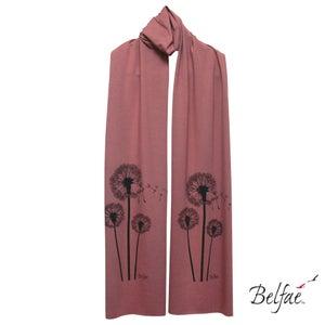 Image of Peony bamboo jersey scarf