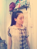 Image of 100% double gaze cotton short sleeves shirt / 二重棉拼布恤 code:135