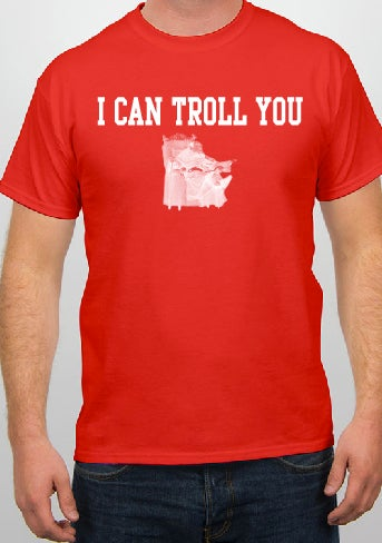 """Image of Red """"I Can Troll You"""" Tee"""